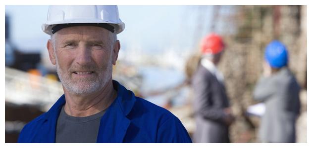 Landman at Oil Rig Site